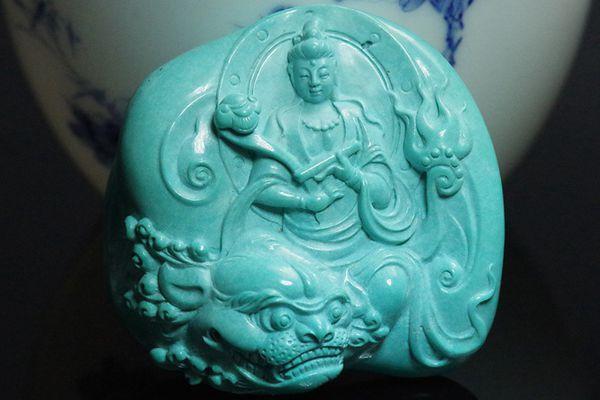 绿松石雕件