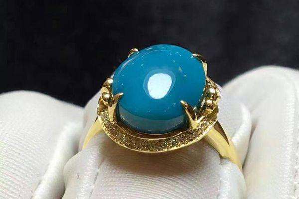 玉化料绿松石戒指