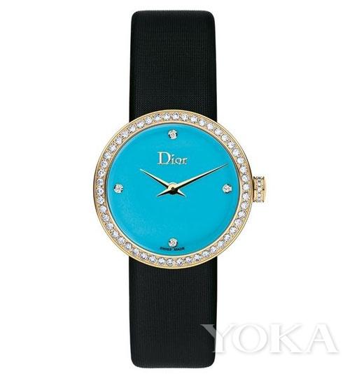迪奥 (Dior) 新款25毫米Lady D de Dior腕表 钻石绿松石